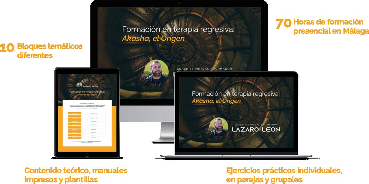 Formacion en Terapia Regresiva - Lazaro Leon - Mockup Curso
