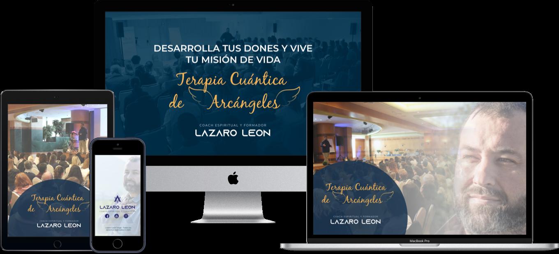 Lazaro Leon - Terapia cuantica de arcangeles - Mockup